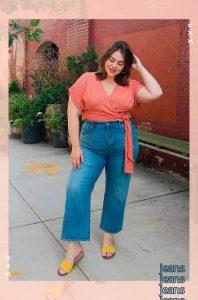 calca jeans cintura alta plus size